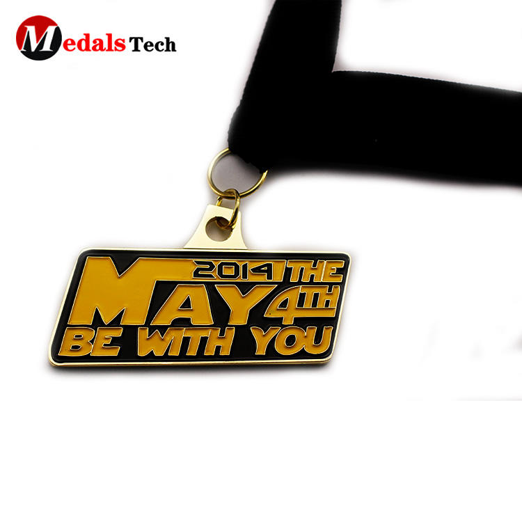 Eco-friendly old gold custom made dance medals with soft enamel