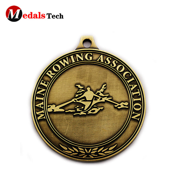 Promotional antique plating round plating rowing association medals
