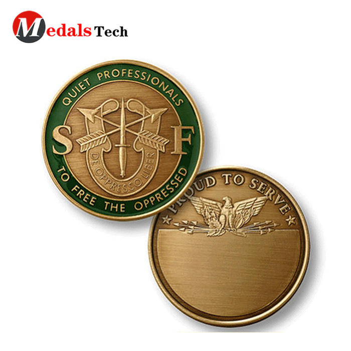 Custom challenge coins gold plating metal medal