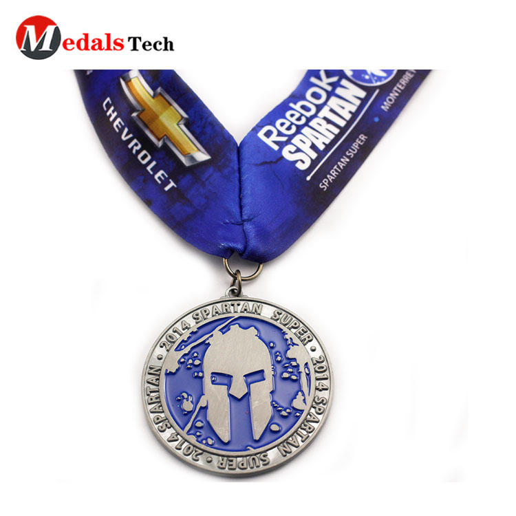 Custom sports race silver medal with logo factory direct sell