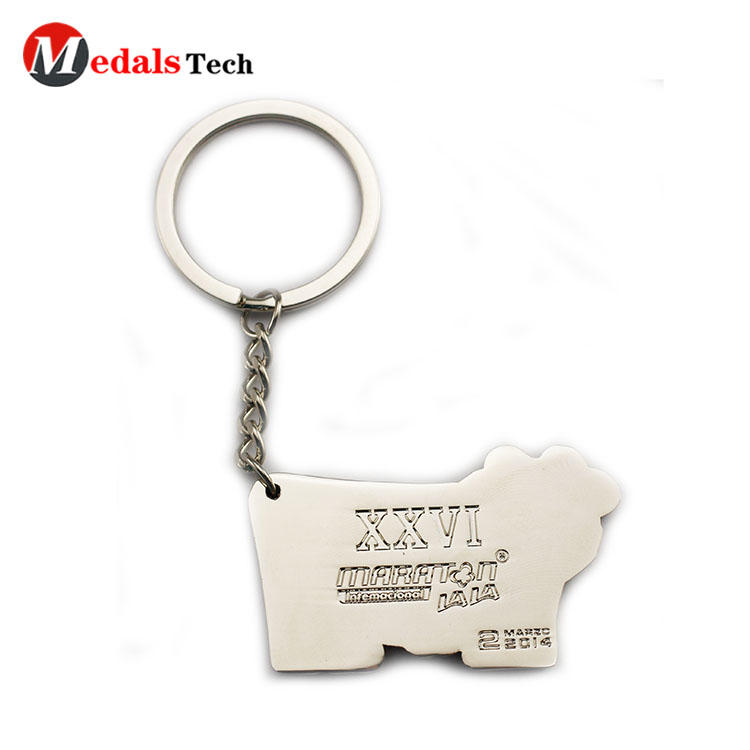 Wholesale  cute cow shaped keychain supplies
