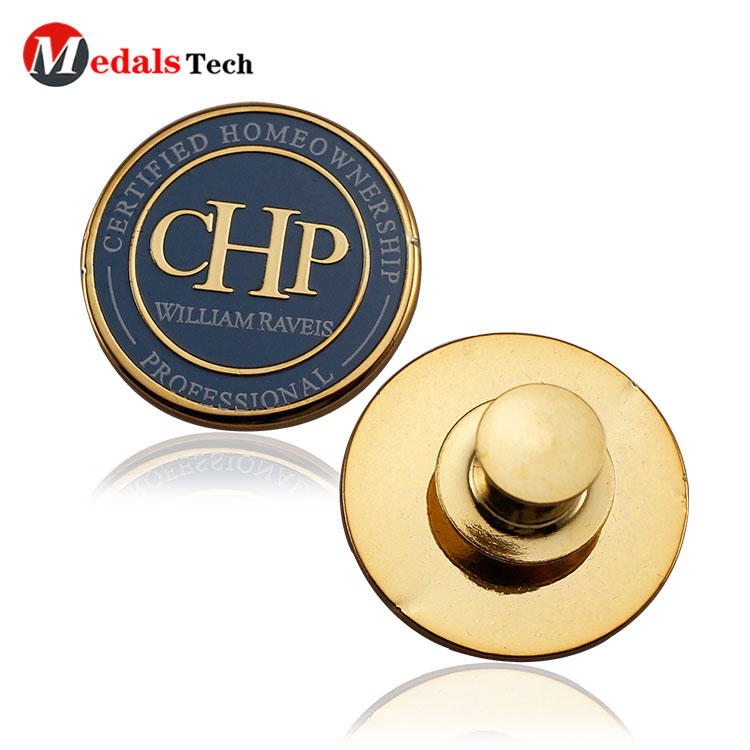 Professional gold plating custom logo metal lapel pins