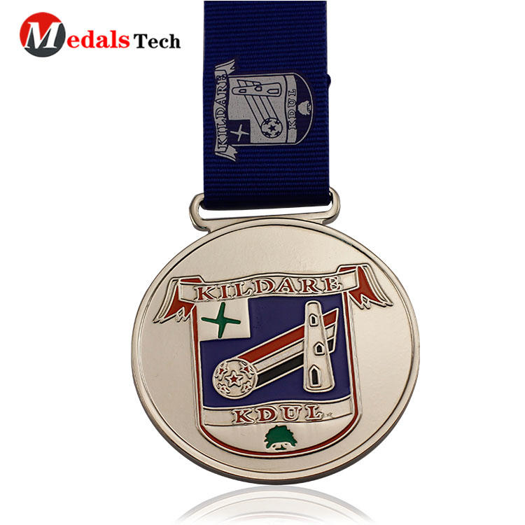 Custom race medals round shaped sport medals with ribbon
