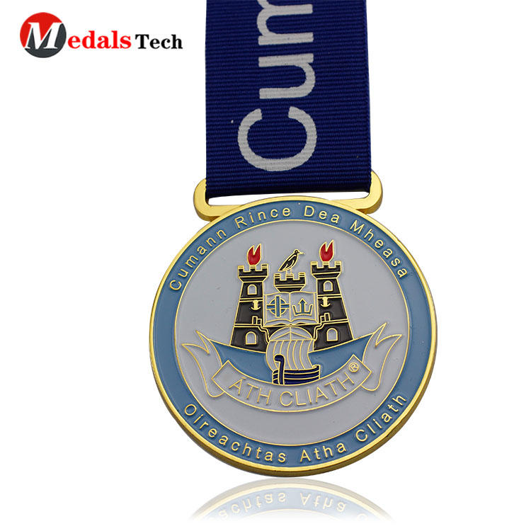 Cheap custom gold plating soft enamel sports metal medals