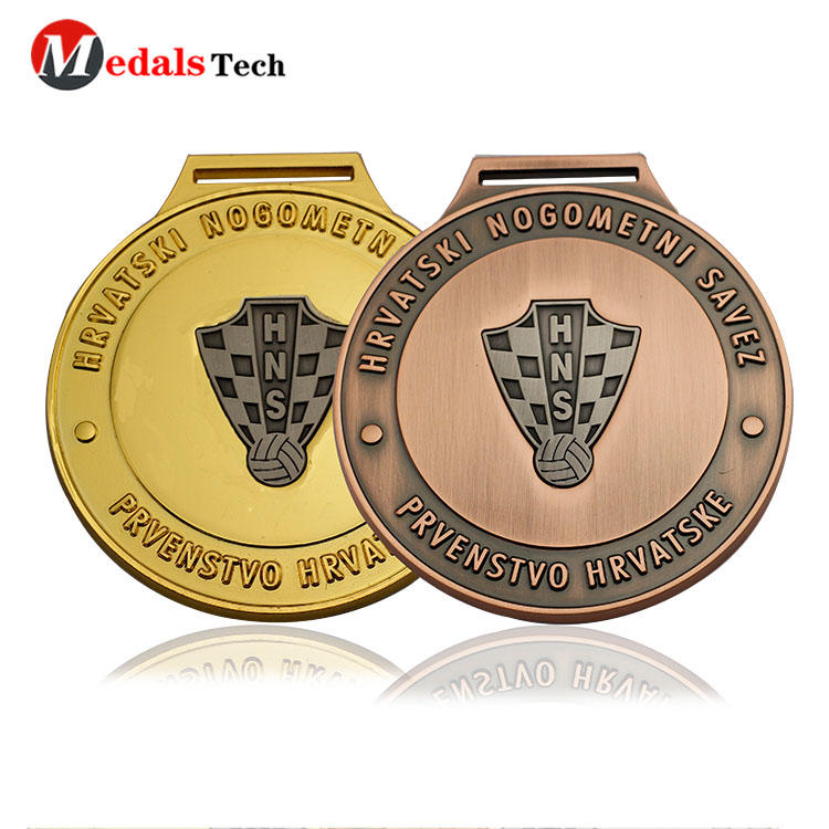 Free sample antique plating custom logo events souvenir medals