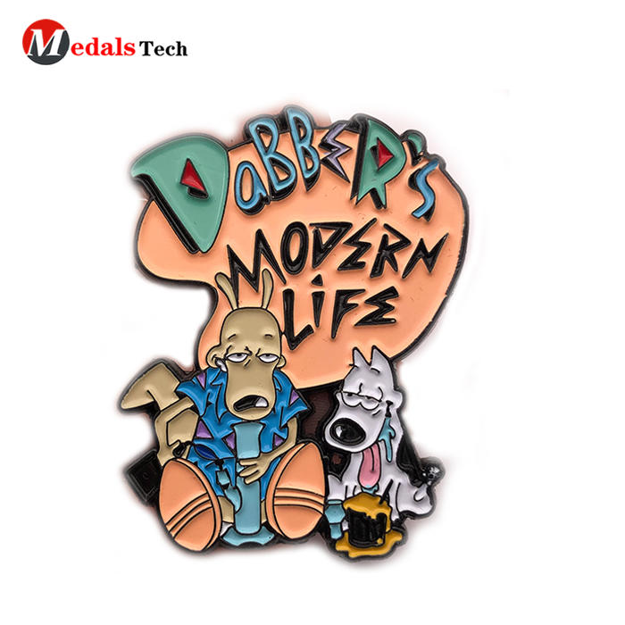 Custom cartoon promotional lapel pins clothing pin badge