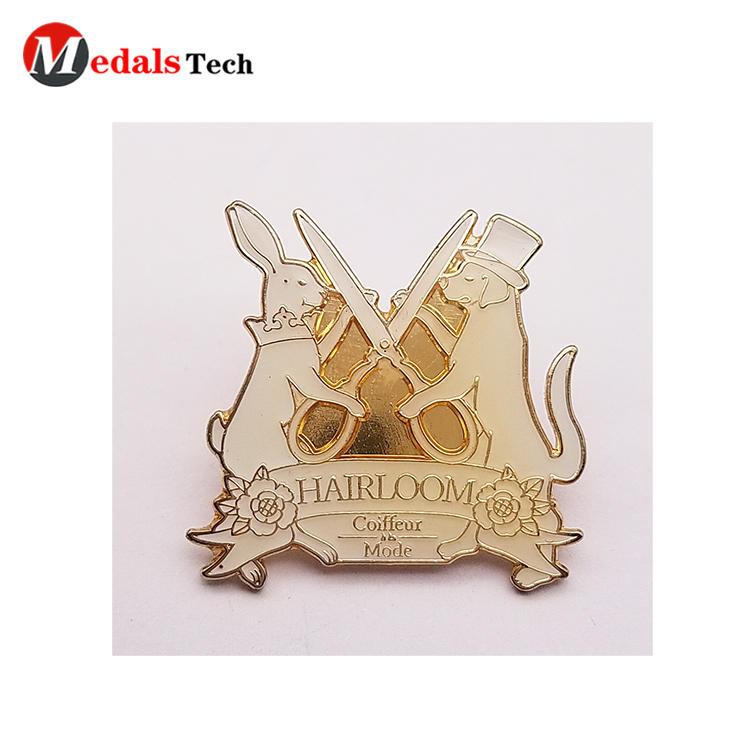 Hard enamel suit lapel pins custom design