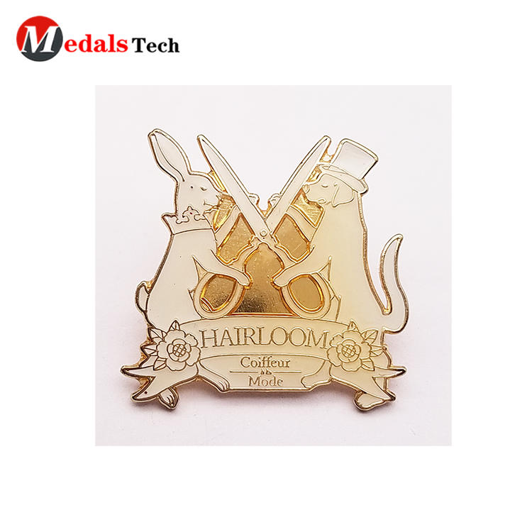 High quality custom design hard enamel clothing  pin lapel pin