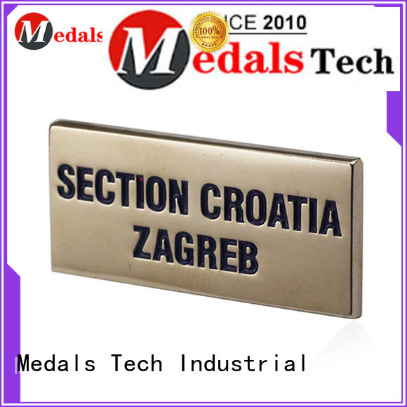 Medals Tech top quality metal name plates factory for woman