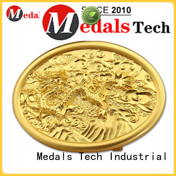 Medals Tech bag silver belt buckles factory price for adults