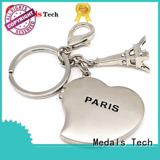 Medals Tech casting metal key ring manufacturer for woman