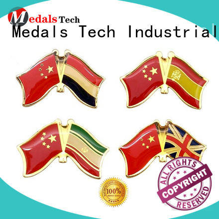 Medals Tech round custom lapel pins with good price for woman