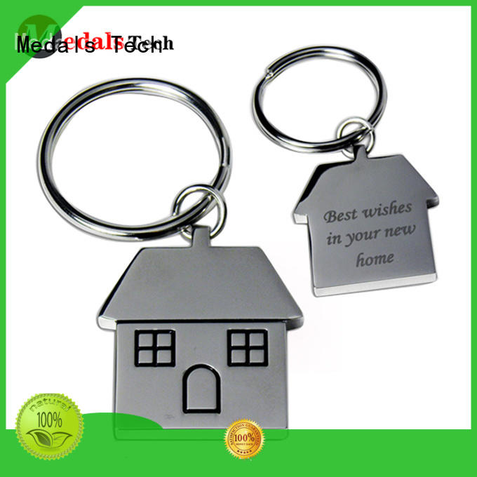 Medals Tech antique name keychains from China for promotion