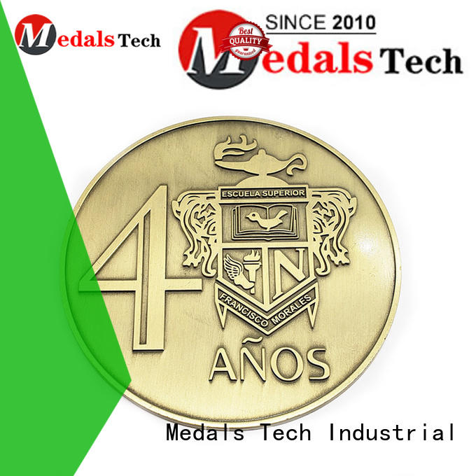 Medals Tech metal sport challenge coins supplier for add on sale