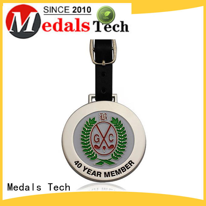 Medals Tech popular custom golf bag tags manufacturer for adults