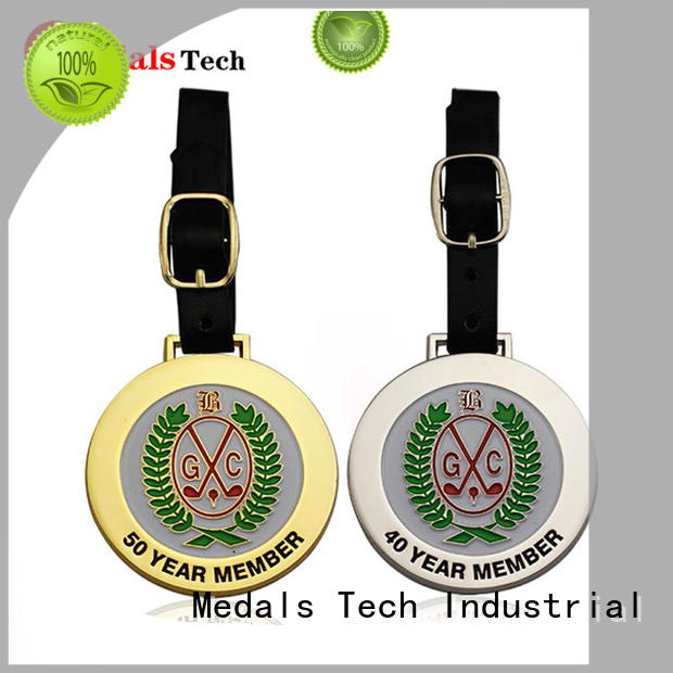Medals Tech soft golf bag name tags from China for adults
