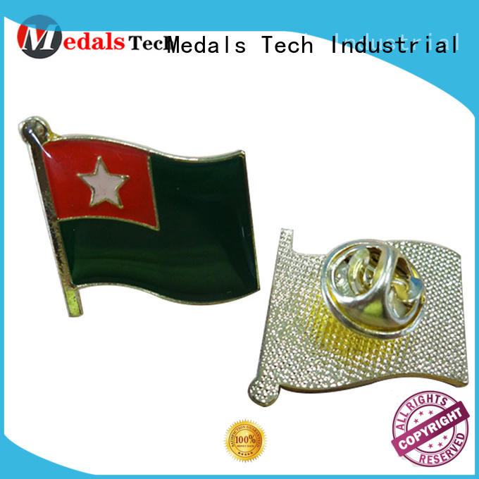 Wholesale custom metal national flag soft enamel sandblast lapel pin