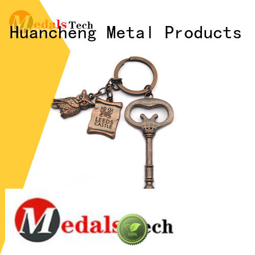 Huancheng Brand promotion shape promotional name keychains