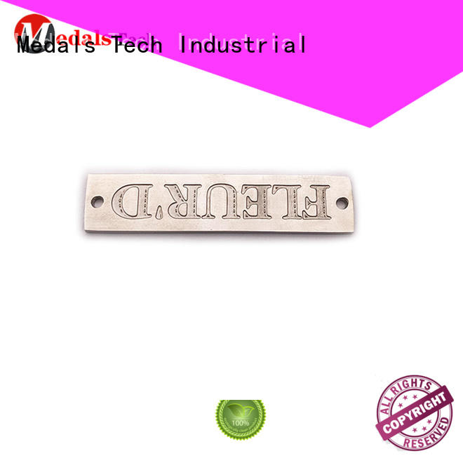 Medals Tech embossed metal name plates with good price for woman