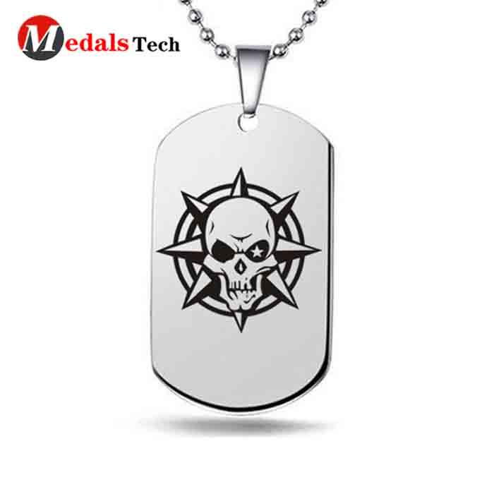 metal engraved dog id tags silver manufacturer for add on sale-2