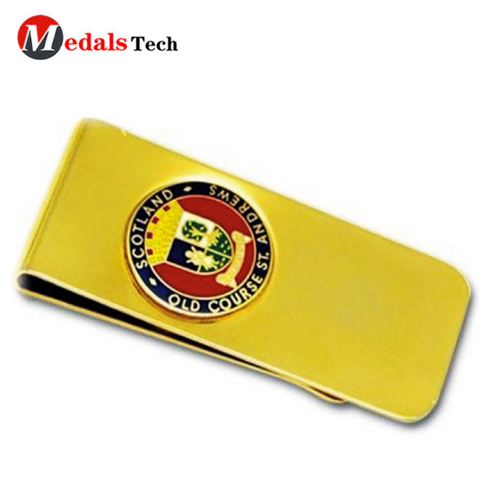 Medals Tech alloy small money clip wallet with good price for woman-2