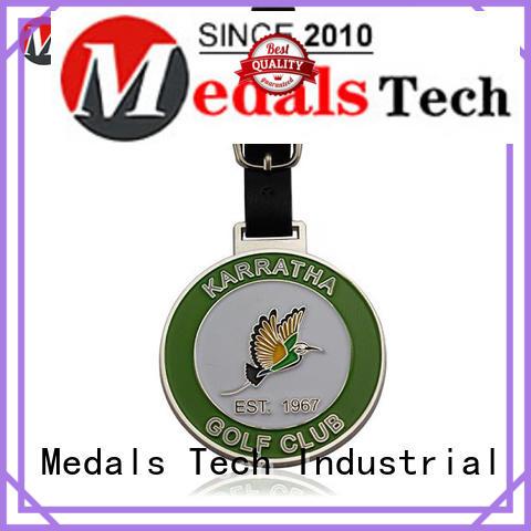 Medals Tech enamel golf bag tag manufacturer for adults