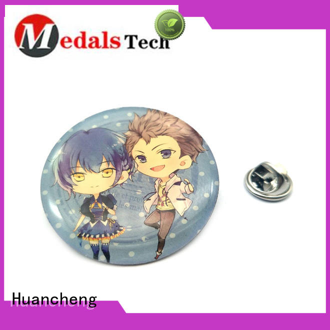 gold custom lapel pins cartoon Huancheng company