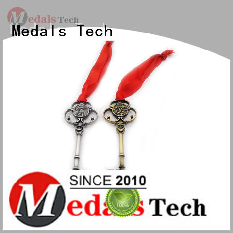 Medals Tech embossed leather keychain manufacturer for commercial