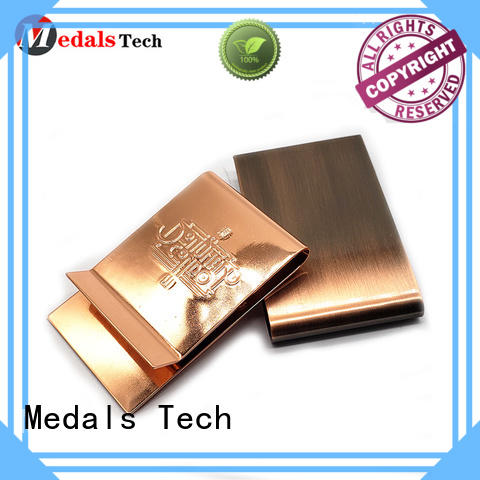 Medals Tech plating fancy money clip factory for woman
