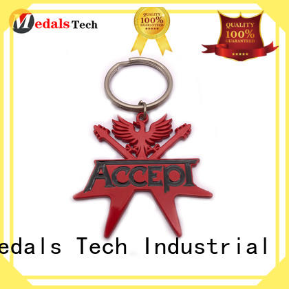 Medals Tech embossed key keychain manufacturer for add on sale