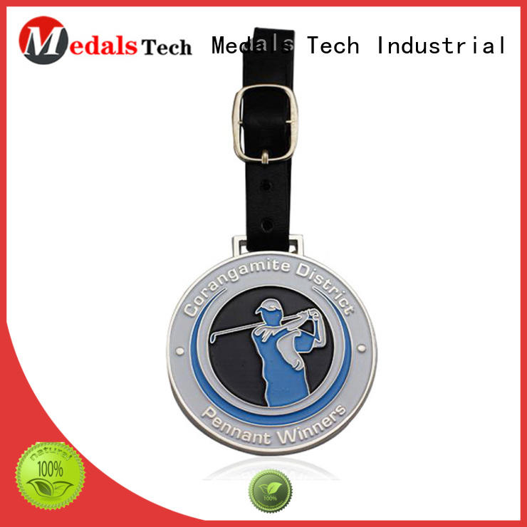 Medals Tech enamel personalized golf bag tags directly sale for man