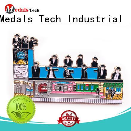 Medals Tech mini suit lapel pins design for add on sale