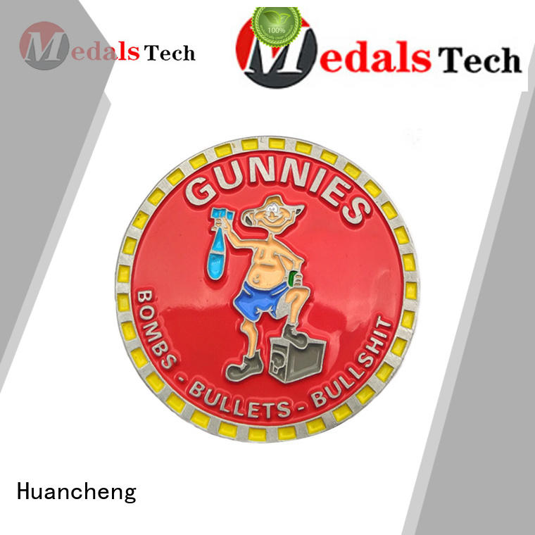 soft enamel quality offset printing Huancheng Brand challenge coin supplier