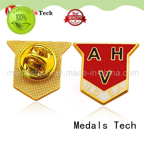Medals Tech rose custom lapel pins design for add on sale