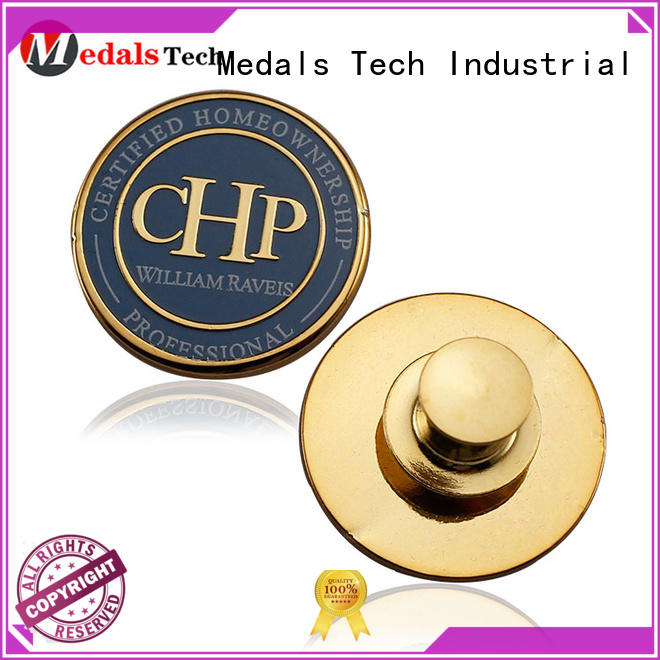 Medals Tech coated custom lapel pins cheap factory for woman