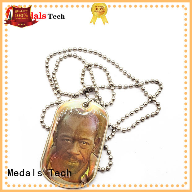 Medals Tech silver Dog tag from China for add on sale