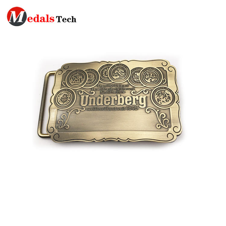 gold cool belt buckles plating personalized for man-1