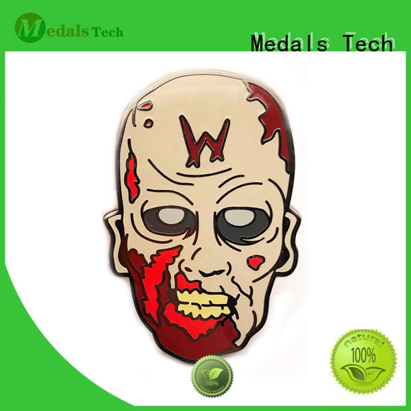 Medals Tech soft custom lapel pins with good price for woman
