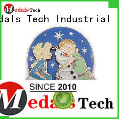 Medals Tech silver suit lapel pins design for adults