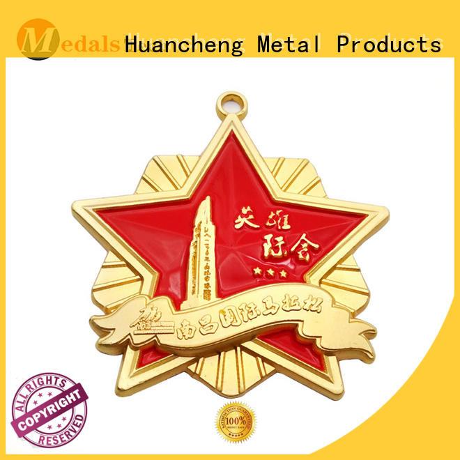 Wholesale gold ribbon metal medal Huancheng Brand