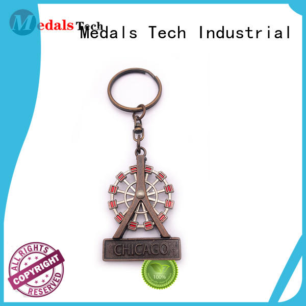 Medals Tech embossed keychain supplies from China for promotion