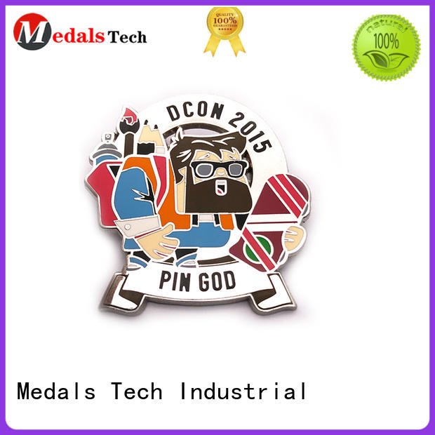 Medals Tech silver cool lapel pins design for man