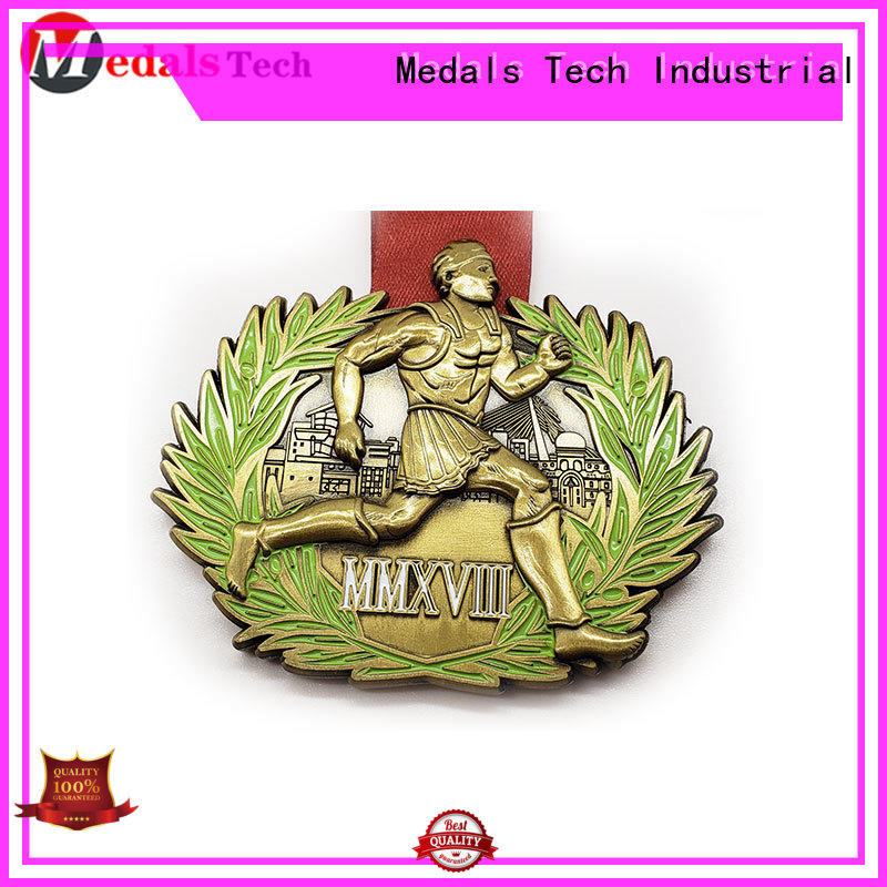 Medals Tech spinning cool running medals factory price for souvenir