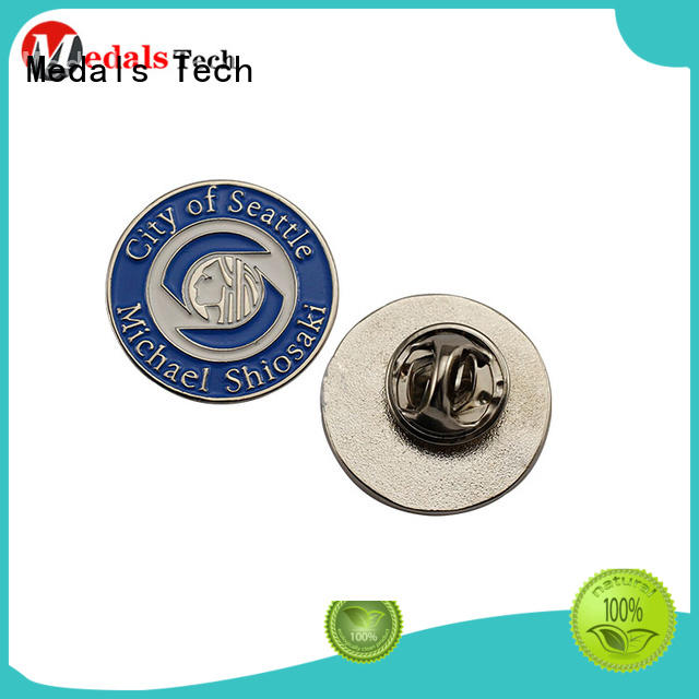 metal custom lapel pins cheap usa with good price for man