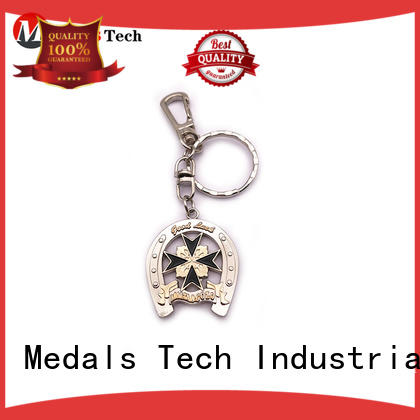 Medals Tech gold leather keychain manufacturer for man