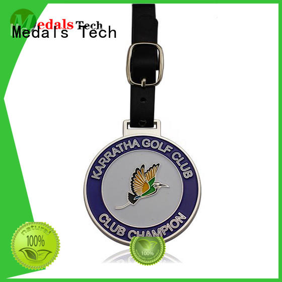 promotional golf luggage tags customized for adults Medals Tech
