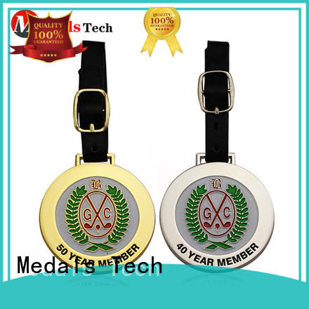 Medals Tech enamel custom golf bag tags from China for man
