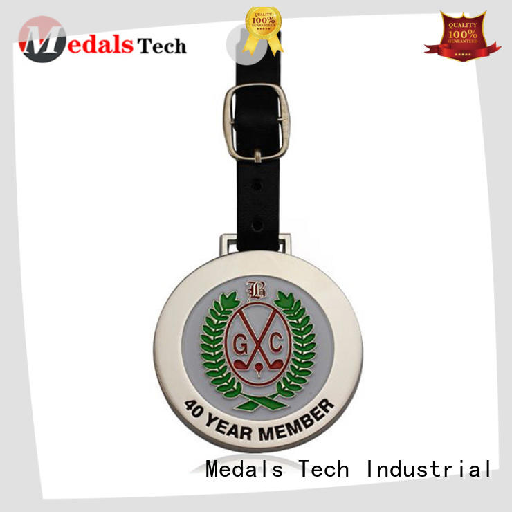 Medals Tech bronze golf bag tag manufacturer for woman