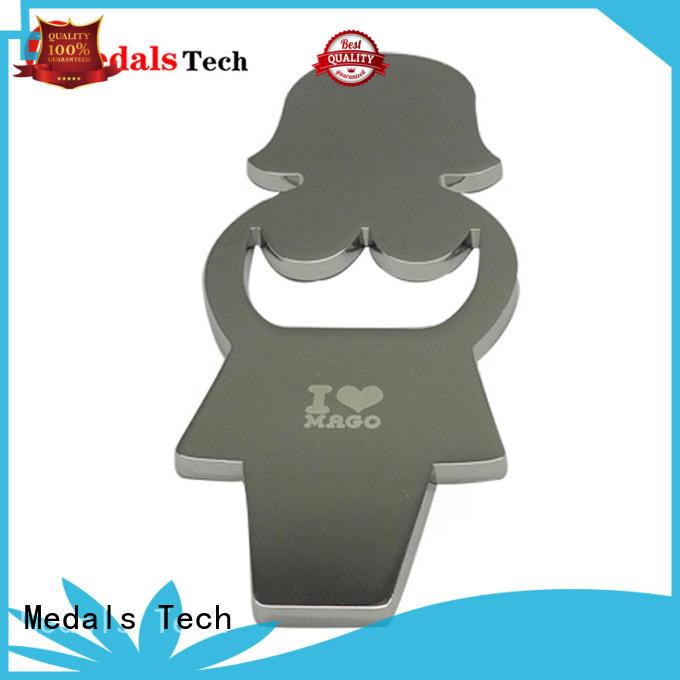 High quality custom metal silver plating flat card bottle opener
