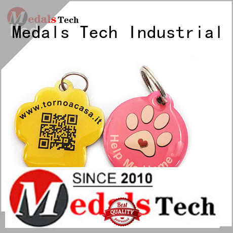 shinny large dog id tags die manufacturer for add on sale